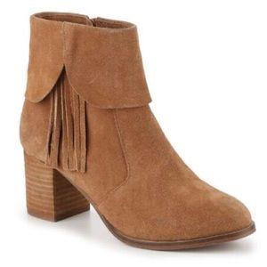 Matisse | 'Paulson' Tan Fringe Suede Ankle Boots